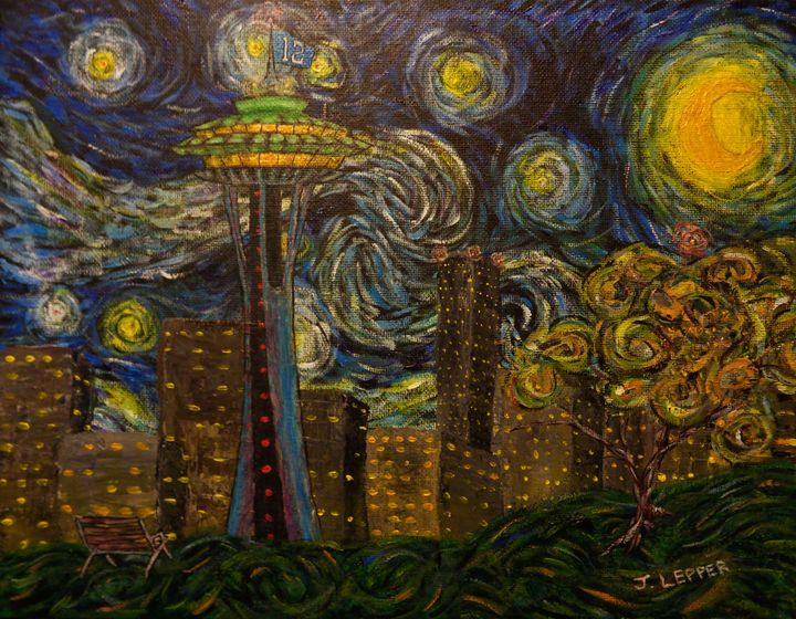 Seattle Starry Night - Jack Lepper