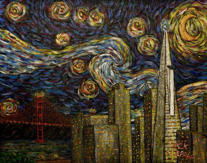San Francisco Starry Night - Jack Lepper