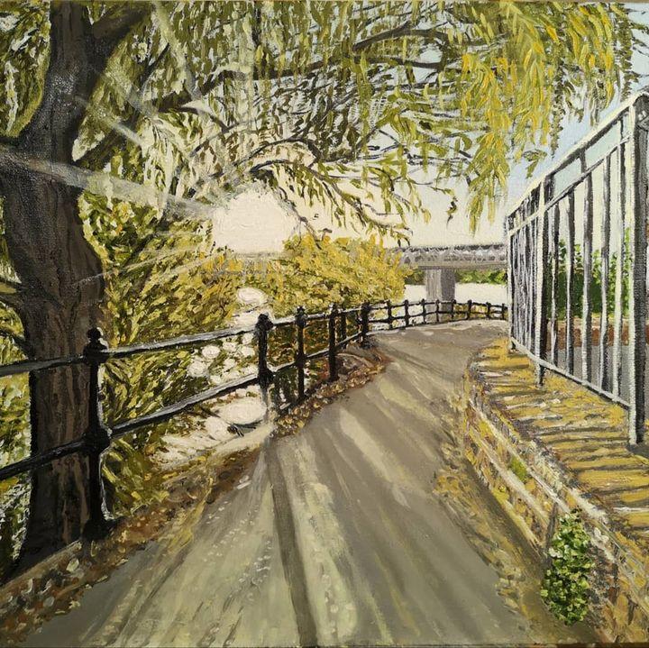 "Original oil painting ""Sunshine"" - Elena Leto"