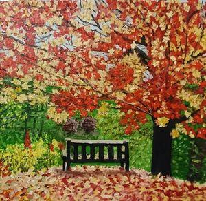 Original oil painting Loneliness
