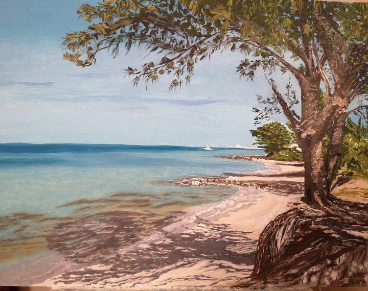 Original oil painting Bahamas - Elena Leto