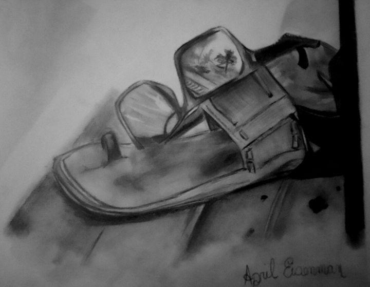 Sunglasses and Sandals - April's Fine Arts Studio