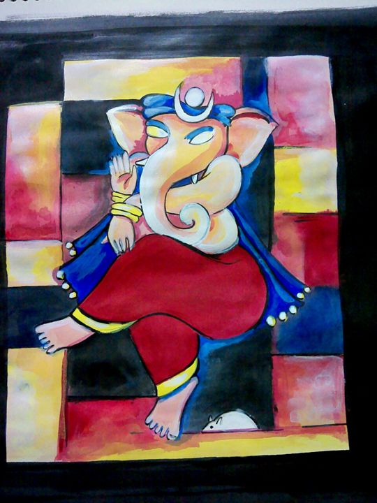 Ganesha- Modern Art - Colors- Art Gallery