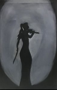 A girl with violin