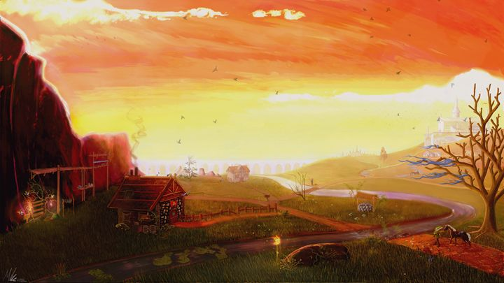 Fantasy Landscape - Art By Mike