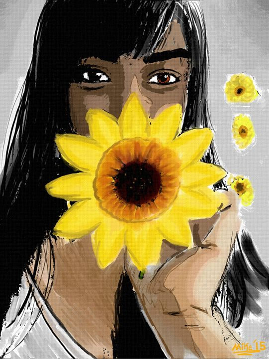 SunFlowers - Art By Mike