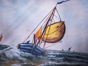 Seascape Sailboats Full Sail Set