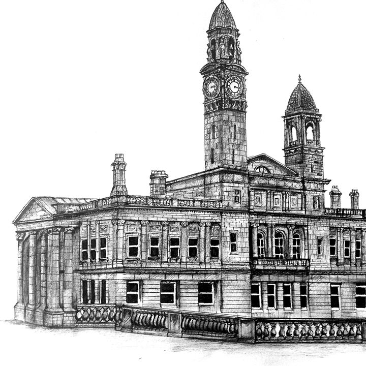 Paisley Town Hall (Section) - Kirsty MacLauchlan
