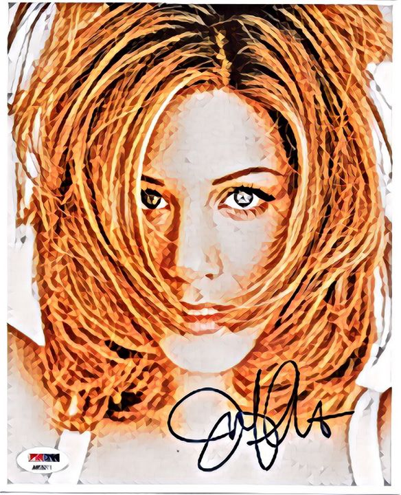 Jennifer Aniston Autograph Art - Colorbook Reality Digital Art
