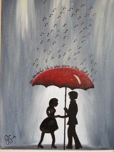 Under the music rain