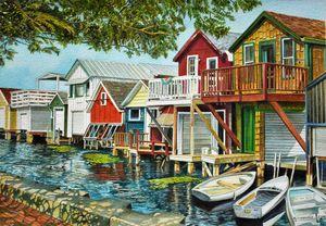 Boathouses on Canandaigua Lake, NY