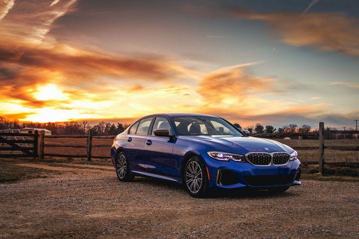 BMW at Sunset - Automotive Photography