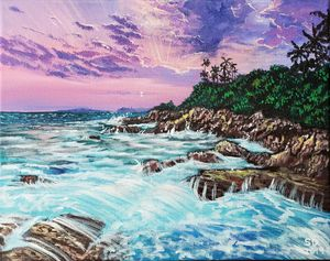 """Rocky Shores of Sri Lanka"""